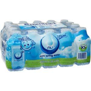 Nu-Pure Australian Spring Water 20 x 250ML Mini Bottle Bulk Pack Free post