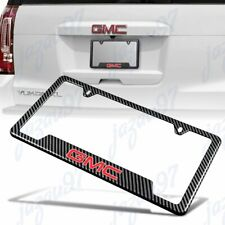 For New GMC Carbon Fiber Look License Plate Frame ABS X1