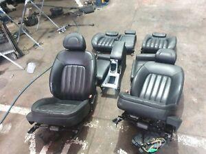 PEUGEOT 407 SEATS LEATHER , 3.0L PETROL , 01/04-06/09 ,SEDAN,  BLACK LEATHER