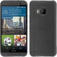 Silikon Hülle für HTC One M9 clear Slimcase + 2 Schutzfolien
