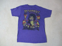 Jimi Hendrix Fire Concert Shirt Adult Small Purple Rock Tour Music Band Mens