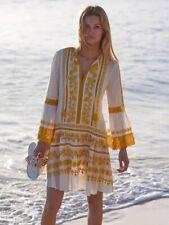 Tory Burch Lace Embroidered Gabriella Dress 14 Yellow  2018  NWT $498 XL