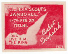 (I.B) India Cinderella : India Scouts Jamboree Rocket Mail (Delhi 1937)