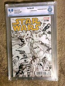 Star Wars V2 8 D Stuart Immonen Sketch 1:100 Variant Graded 9.0 CBCS