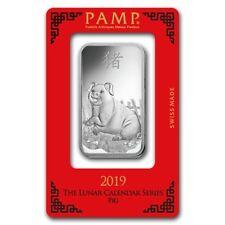 ++ Pamp Suisse  -  Lunar Schwein 2019 - 1oz Silberbarren im Blister ++