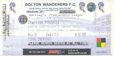 Ticket - Bolton Wanderers v Charlton Athletic 14.08.04