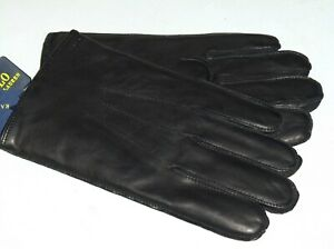 POLO RALPH LAUREN Men's Nappa Leather Gloves, 3M Thinsulate Lined, BLACK, nwt
