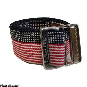 """Red White & Blue Gait Belt 54"""" USA Themed with Metal Buckle"""