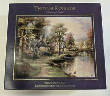 Thomas Kinkade 'Hometown Lake' Limited Edition 500 Piece Wood Puzzle 1998