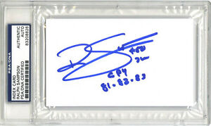 Ralph Sampson SIGNED 3x5 Index Card +CPY Virginia Cavaliers PSA/DNA AUTOGRAPHED