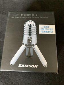 New In Box! Samson Meteor USB Studio Microphone for computer Recording