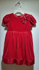 Red Velvet Dress Roses by George Size 3T Christmas or Valentines Day! Holiday