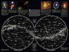 POSTER A3-Doppio Emisfero STAR mappa della galassia (Spazio Immagine Arte Stampa)