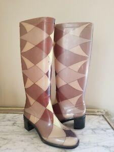 Emilio Pucci Women's Rain Boots  Harlequin Pattern Size EU 36