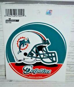 "New Nfl Miami Dolphins 4 1/2"" Vinyl Decal"