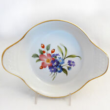 """PERSHORE by Royal Worcester Eared Round Egg Dish 7.25"""" NEW NEVER USED England"""