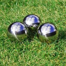 3 13cm Stainless Steel Mirror Garden Sphere Ornaments Gazing Balls