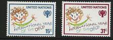 United Nations Scott #Ny 310-11, Singles 1979 Complete Set Fvf Mnh