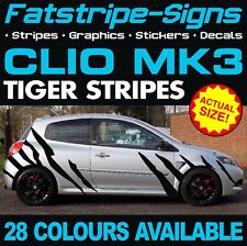 RENAULT CLIO MK3 GRAPHICS STRIPES STICKERS DECALS 1.6 2.0 197 200 RS SPORT