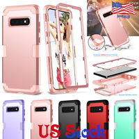 Rubber Hard Case Cover Hybrid Heavy Duty Shockproof For Samsung Galaxy S10 Plus