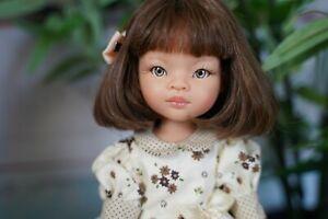 Paola Reina doll. Mali, new eyes, haircut. Nude + handmade clothing set, 32 sm