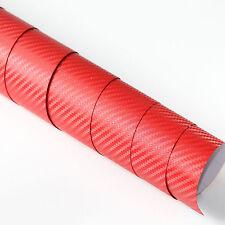 3x DIN A4 Wrapping Folie 3D Carbon Rot 21cm x 29,7cm Autofolie mit Luftkanälen