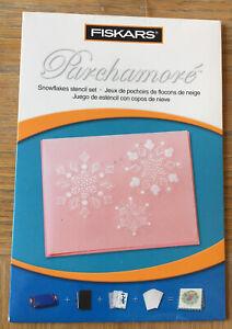 Fiskars Parchamore Snowflakes Stencil Set
