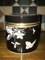 Minton Rosenborg black and gold lady bird round Jewelry box New