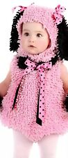 Pink Poodle Costume Infant Girls 24 Months Chenille Princess Paradise 2 Pc EUC