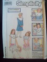 Vintage Simplicity Pattern 8593 Daisy Kingdom Dress Size 14 Uncut/FF 1980s NOS