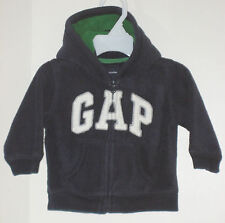 babyGAP Size 6-12 Months Boys Black Fleece Hoody Jacket