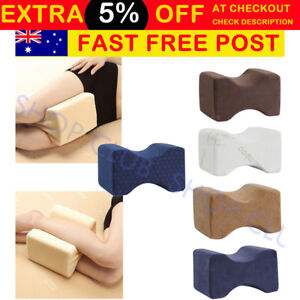 AU Memory Foam Leg Pillow Cushion Hips Knee Support Pain Relief & Washable Cover
