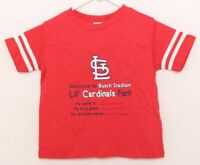 NEW St. Louis Cardinals Soft As a Grape Red Short Sleeve T-Shirt Kids Toddler 3