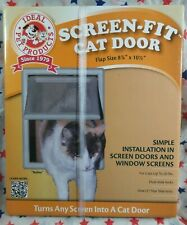 New In Box Ideal Pet Products #Sfpd Screen-Fit Cat Door 8-7/8