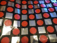 Vtg Adhesive Paper Kitchen Shelf Glamper Backsplash Retro Mylar Squares Circles