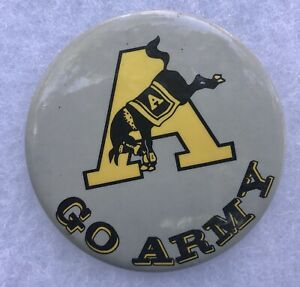 """Vintage West Point Pin Back Button GO ARMY  US Military Academy 3"""" Dia"""