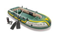 Intex 295cm Seahawk 3 Inflatable/Floating Sports Boat w/ Oars/Hand Pump Green