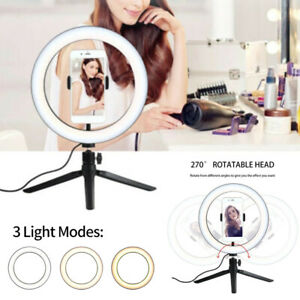 """120 LED 10"""" Ring Light with Phone Stand Tripod Dimmable for Makeup Phone Camera"""