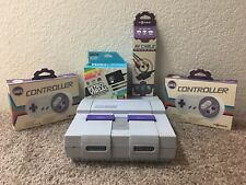 Super Nintendo Console Bundle NEW AC Power NEW AV Cable 2 NEW Tomee Controllers
