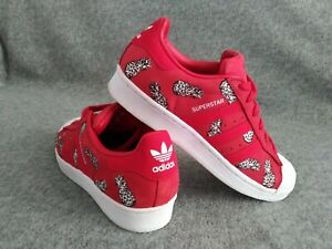 B28040 Adidas Women's Superstar Scarlet Pineapples Low Athletic Sneakers 6