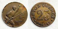FRANCIA. JETON QUERCY. VALOR 25. 1914/17. I GUERRA MUNDIAL