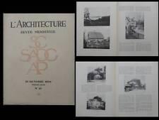 L'ARCHITECTURE n°10 1934 - PARIS EGLISE SAINT ESPRIT, TOURNON, STOCKHOLM