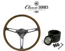 Ford XA XB XC SAAS Classic Steering Wheel 380mm Dish Wood Grain & Boss Kit ADR