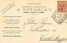 5055) BOLOGNA AGENZIA AGRICOLA NOTARI IN VIA CAVALIERA. VG IL 1/8/1901.
