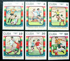 1986 Latin America, Mexico World Cup Soccer Championships, 6 Stamps, Mnh