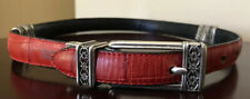 Brighton Women's Black/Red Reversible Belt SZ XS