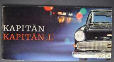 1960 Opel Kapitan L Small Catalog Brochure German Text Excellent Original 60