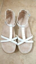 Clarks Active Air White Strappy Leather Jewelled Sandals Size 5 Super Comfy