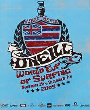 Official 2005 O'neill World Cup Surfing Sunset Beach Hawaii Contest Surf Poster