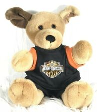 Harley Davidson Build-a-Bear Stuffed Plush Puppy Dog With Shirt Shorts Bear Pup